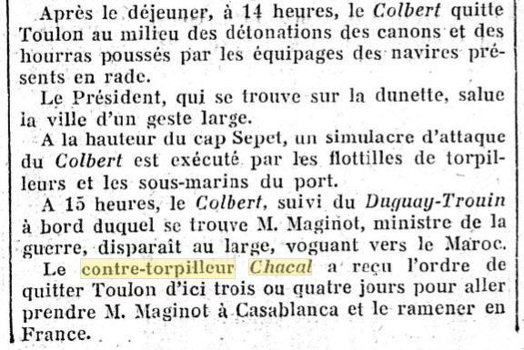 Le contre-torpilleur Chacal 19301016