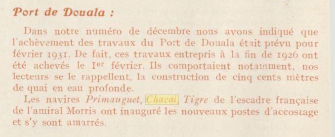 Le contre-torpilleur Chacal 19310210