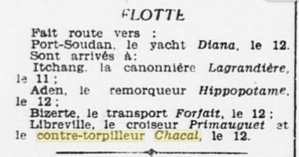 Le contre-torpilleur Chacal 19310211