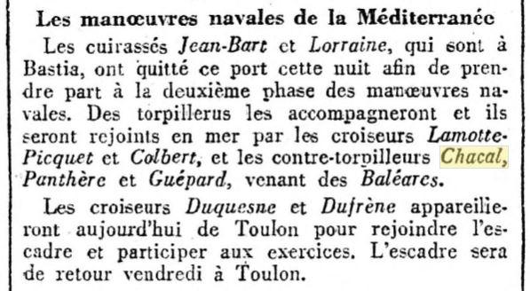 Le contre-torpilleur Chacal 19311110