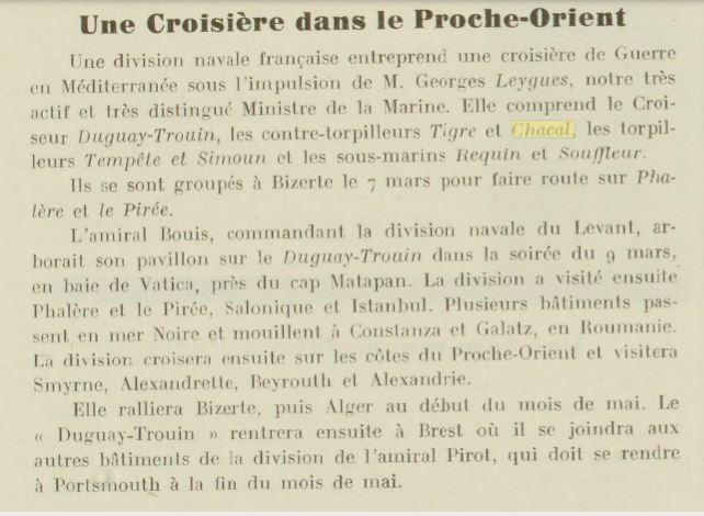 Le contre-torpilleur Chacal 19330310