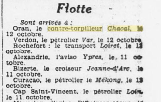 Le contre-torpilleur Chacal 19331010
