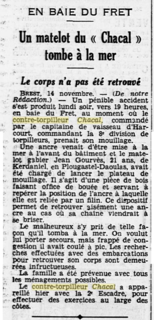 Le contre-torpilleur Chacal 19331110