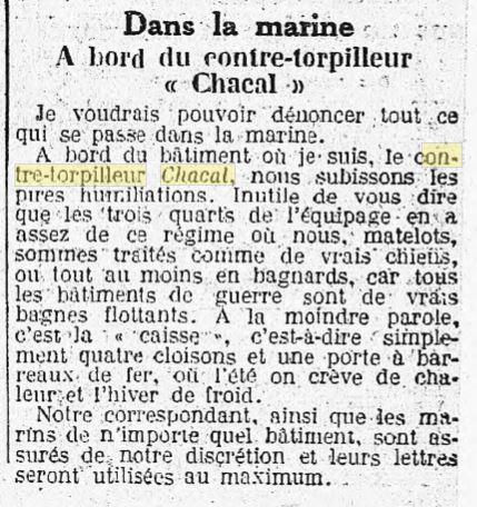 Le contre-torpilleur Chacal 19340410