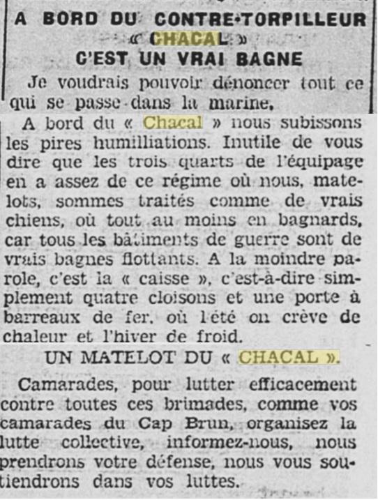 Le contre-torpilleur Chacal 19340411