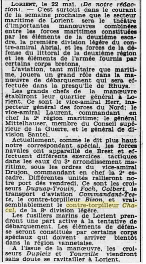 Le contre-torpilleur Chacal 19340510