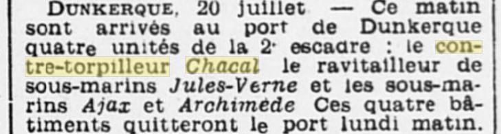 Le contre-torpilleur Chacal 19340710