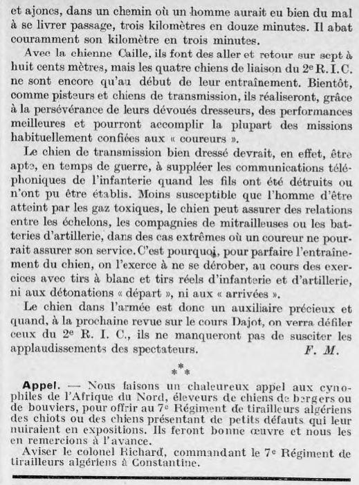 Les chiens dans l'armée française - Page 2 19370412