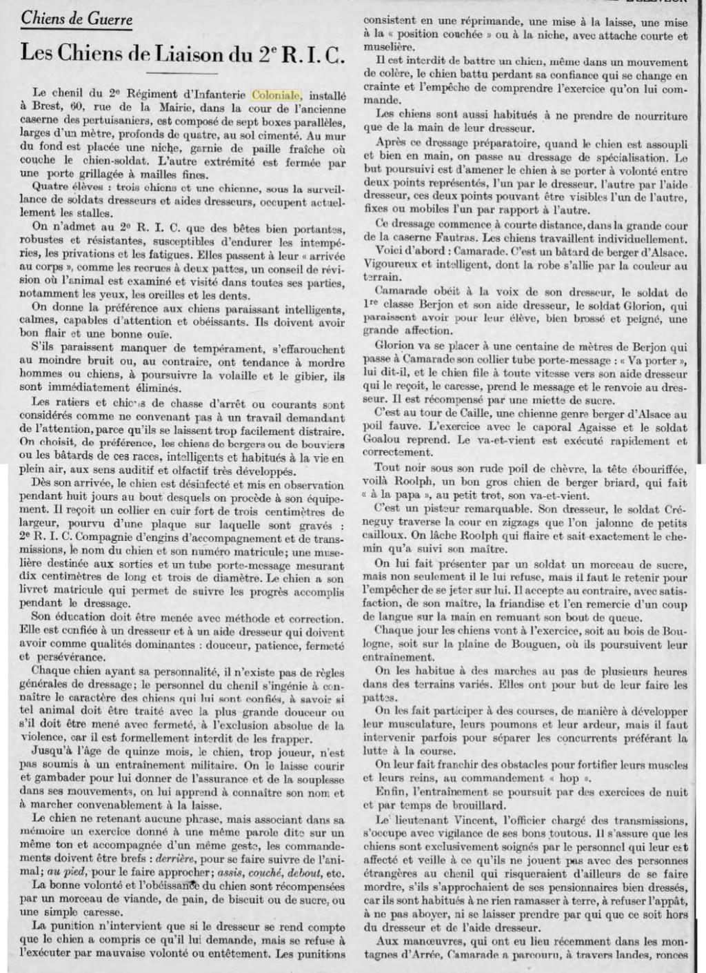 Les chiens dans l'armée française - Page 2 19370413