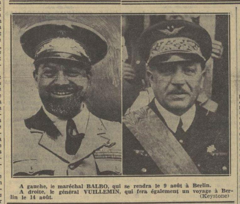 Les officiers généraux de l'armée de l'air 1939 1940 19380813