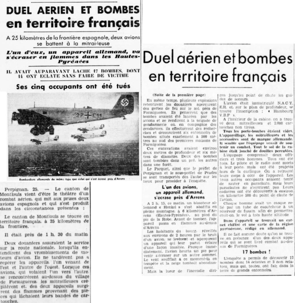 25 janvier 1939 - Crash d'un bombardier Allemand à Arrens 1939-010