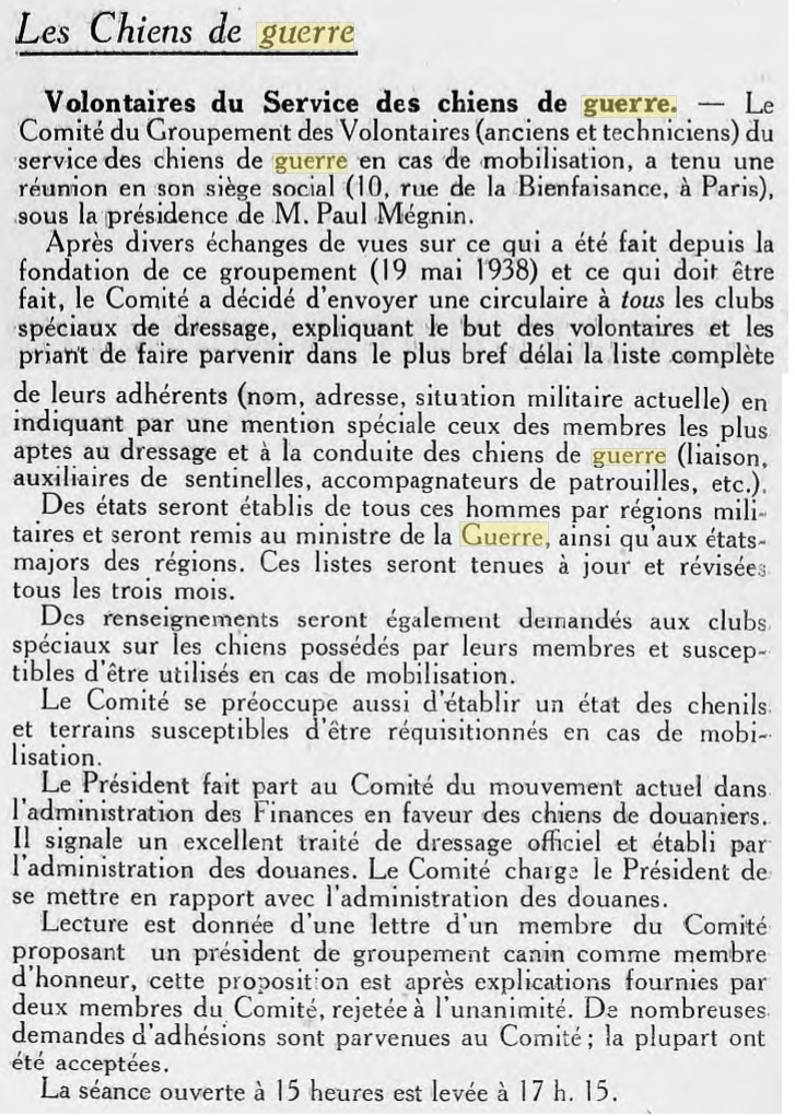 Les chiens dans l'armée française - Page 2 19390116