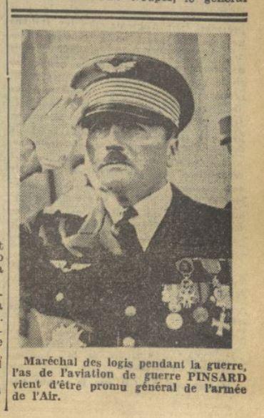 Les officiers généraux de l'armée de l'air 1939 1940 19390213