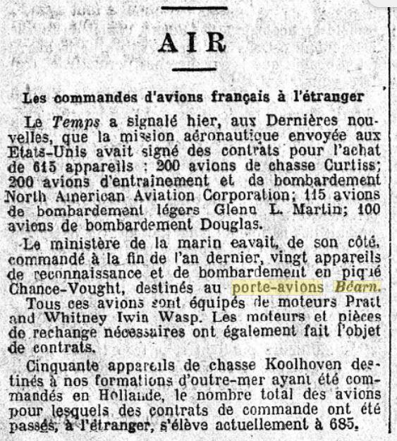 Commandes françaises aux Etats-Unis - Page 4 19390215