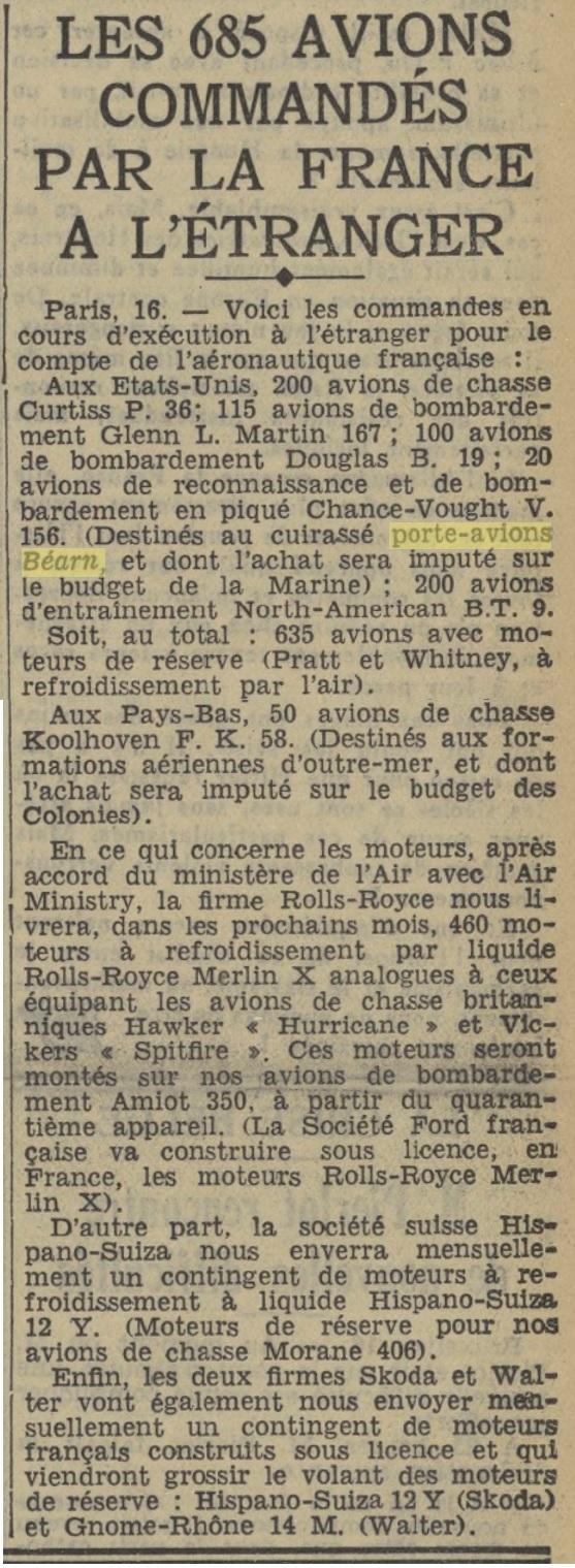 Commandes françaises aux Etats-Unis - Page 4 19390216