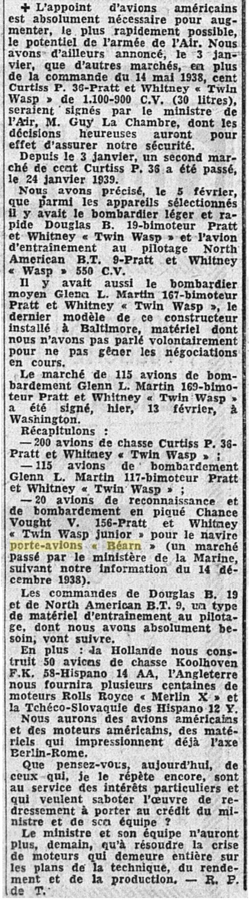 Commandes françaises aux Etats-Unis - Page 4 19390217