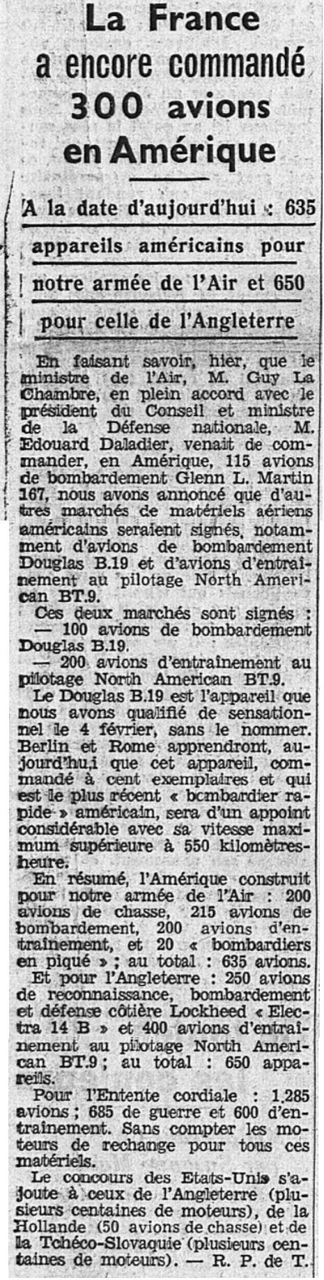 Commandes françaises aux Etats-Unis - Page 4 19390218