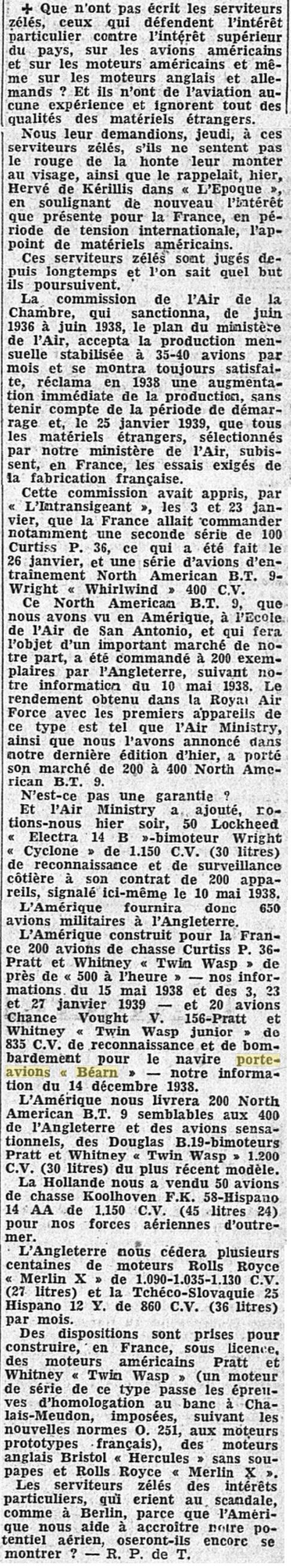 Commandes françaises aux Etats-Unis - Page 4 19390219