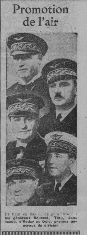 Les officiers généraux de l'armée de l'air 1939 1940 19390521