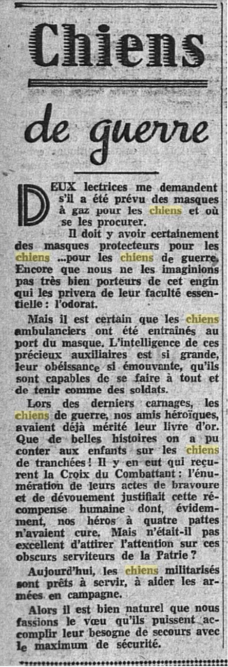 Les chiens dans l'armée française - Page 2 19390816