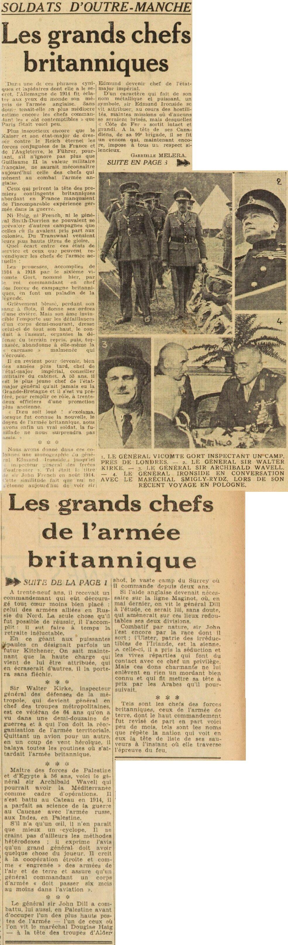 Généraux de la BEF - Page 2 19390916
