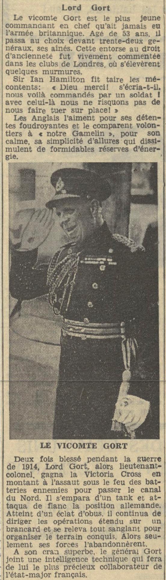 Généraux de la BEF - Page 2 19390924