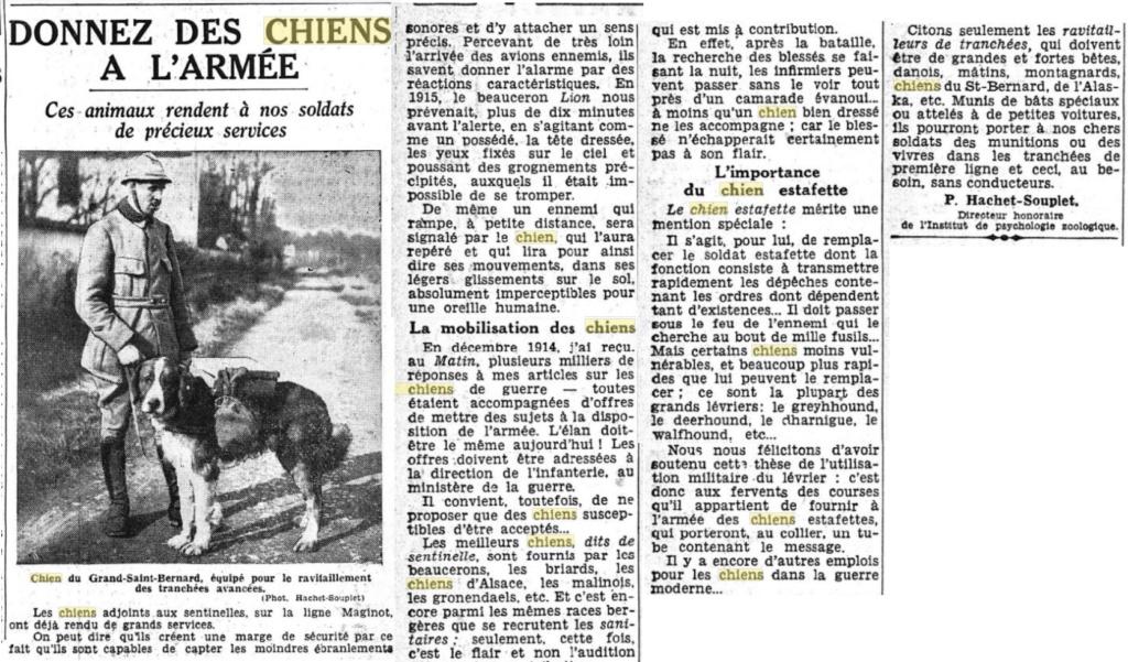 Les chiens dans l'armée française - Page 2 19391016