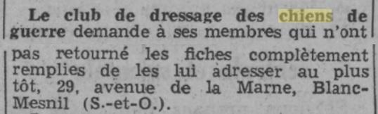 Les chiens dans l'armée française - Page 2 19391017