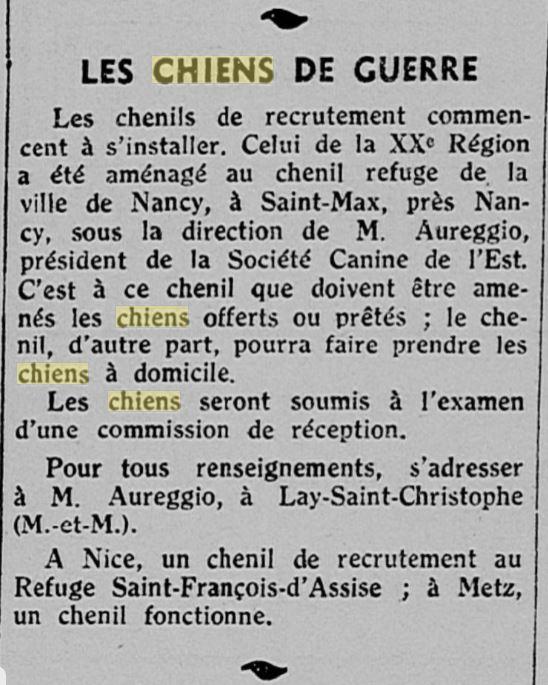 Les chiens dans l'armée française - Page 2 19391212
