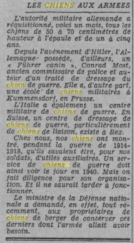 Les chiens dans l'armée française - Page 2 19391213