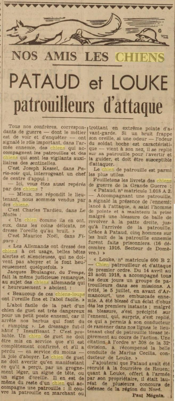 Les chiens dans l'armée française - Page 2 19391217