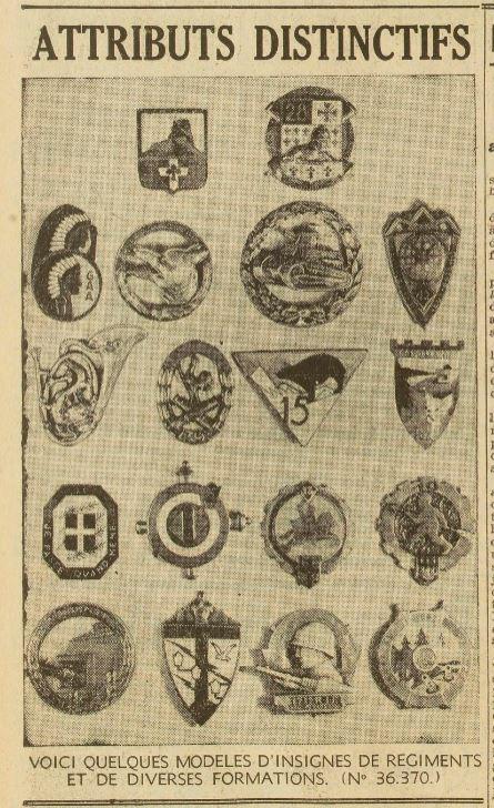La naissance des premiers insignes 19400119
