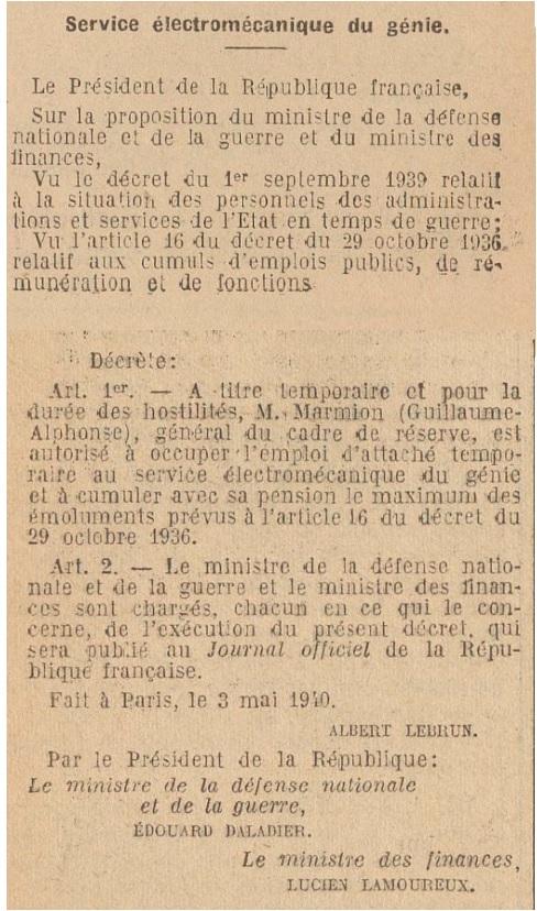 Général Marmion 19400510
