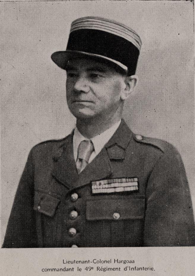 Lieutenant-Colonel Hargoaa, commandant le 49e RI puis 49e RIA 2019-024