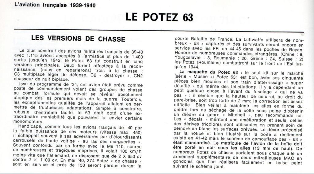 Les mordus du modélisme (1973) Fiche sur le POTEZ 63 2019-410