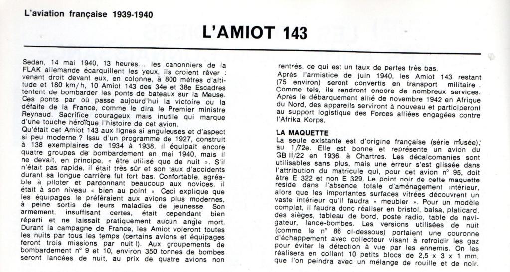Les mordus du modélisme (1973) Fiche sur le AMIOT 143 2019-427
