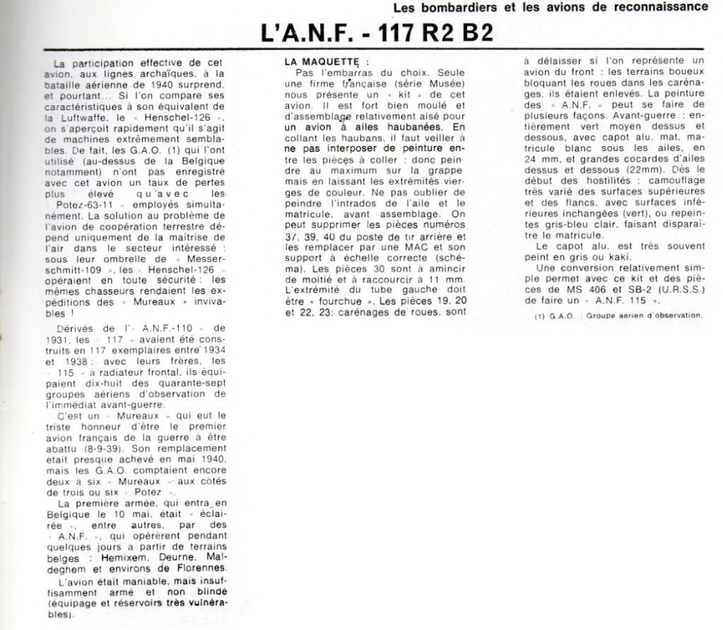 Les mordus du modélisme (1973) Fiche sur l' A.N.F. 117  2019-453