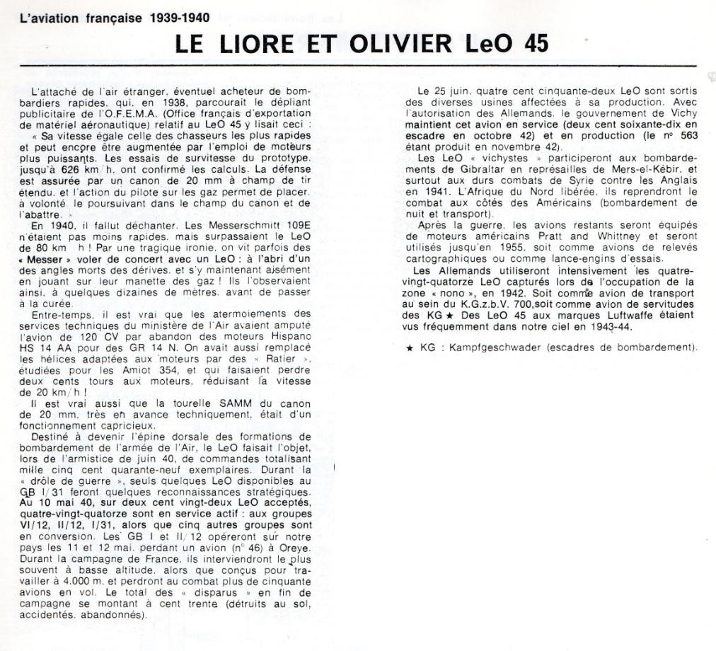 Les mordus du modélisme (1973) Fiche sur le LeO 45 2019-478