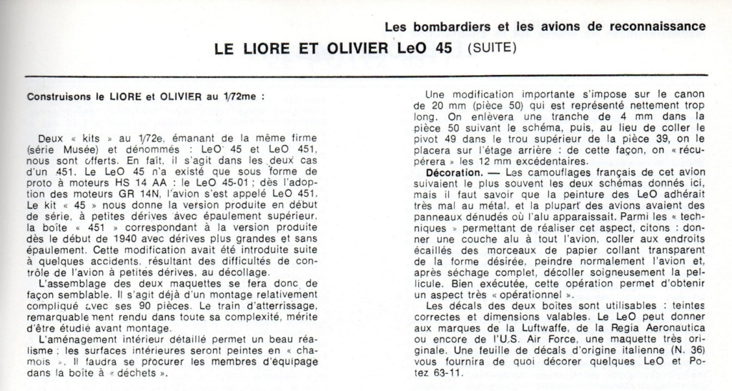 Les mordus du modélisme (1973) Fiche sur le LeO 45 2019-494