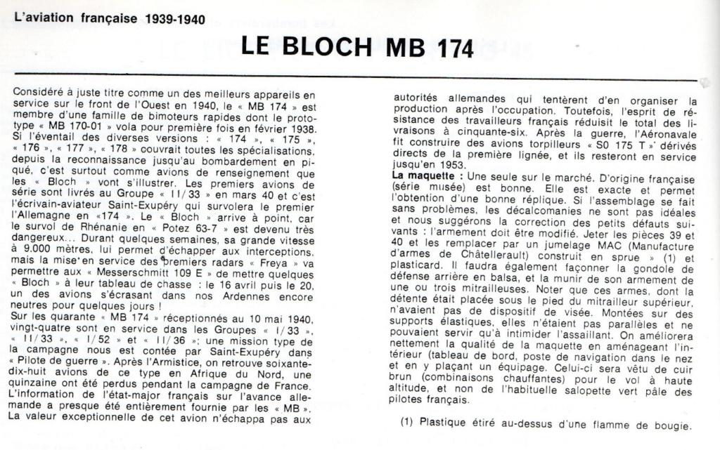Les mordus du modélisme (1973) Fiche sur le BLOCH MB 174 2019-527