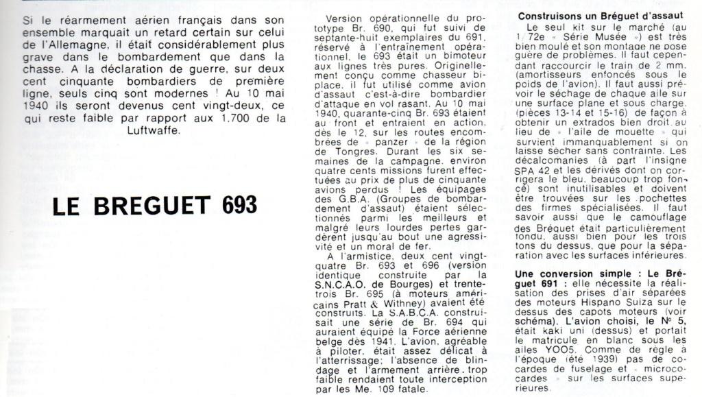 Les mordus du modélisme (1973) Fiche sur le BREGUET 693 2019-580