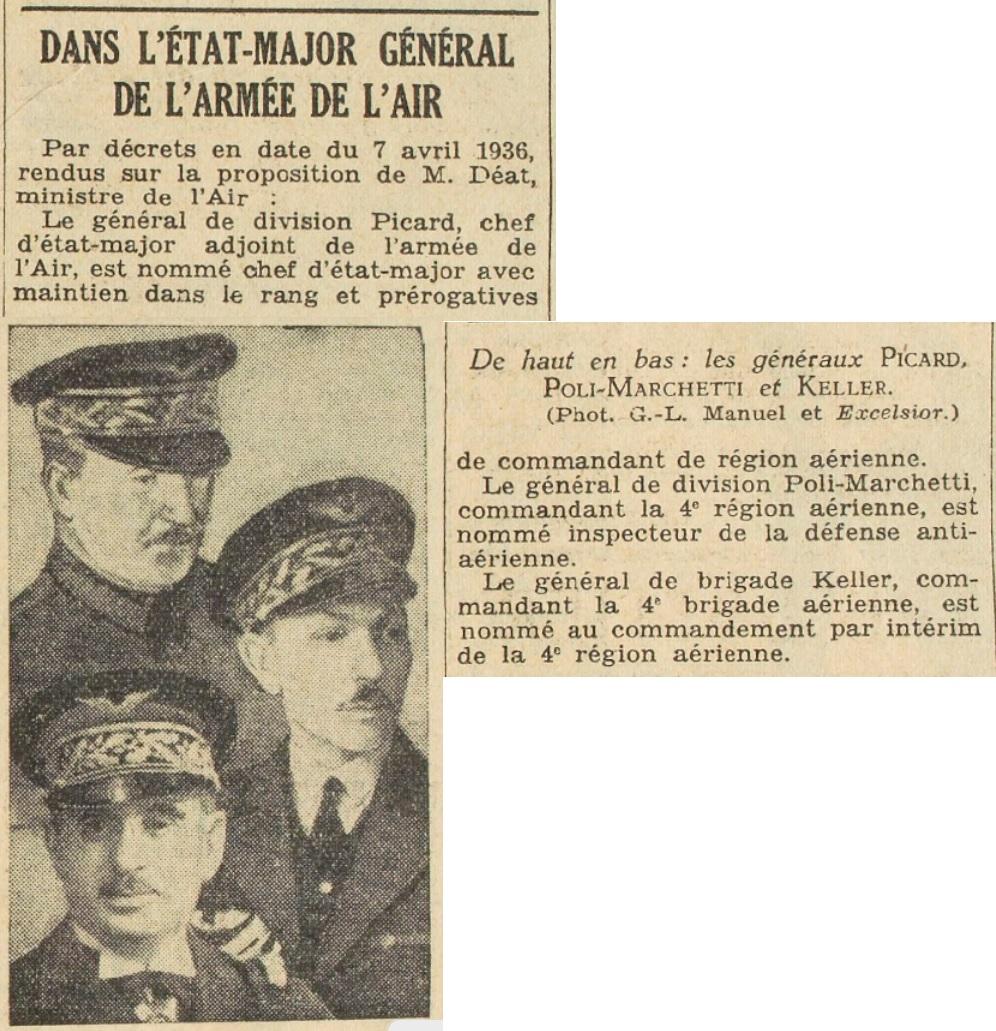 Les officiers généraux de l'armée de l'air 1939 1940 Aviati11