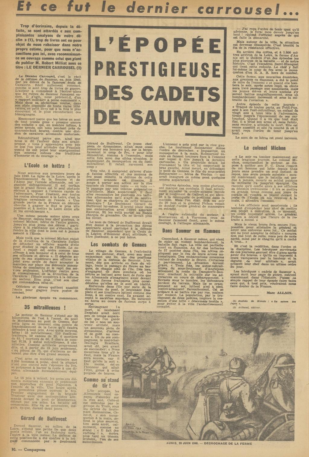 Le Colonel Charles Michon Chef des Cadets de Saumur... 2021. Compag12