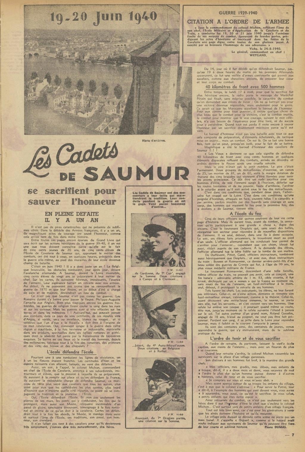 Le Colonel Charles Michon Chef des Cadets de Saumur... 2021. Compag13