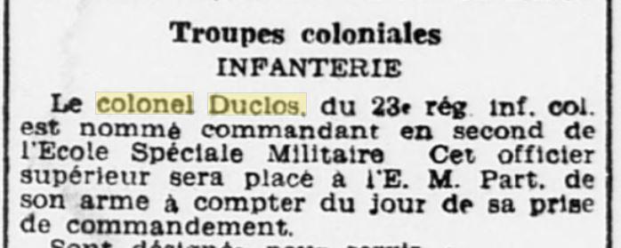 Général Duclos Gzonzo47