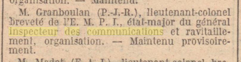Inspection générale des communications et des ravitaillements Inspec11