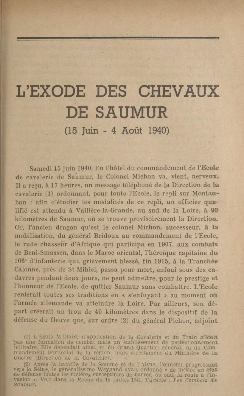 Le Colonel Charles Michon Chef des Cadets de Saumur... 2021. Revue_10