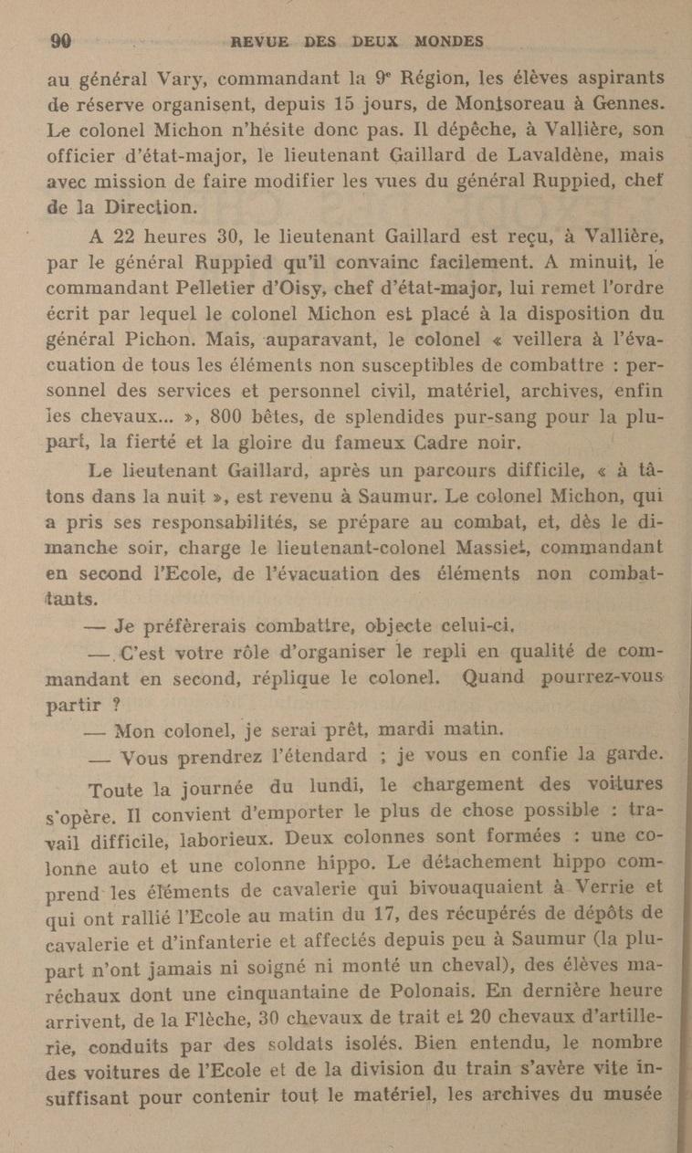 Le Colonel Charles Michon Chef des Cadets de Saumur... 2021. Revue_11