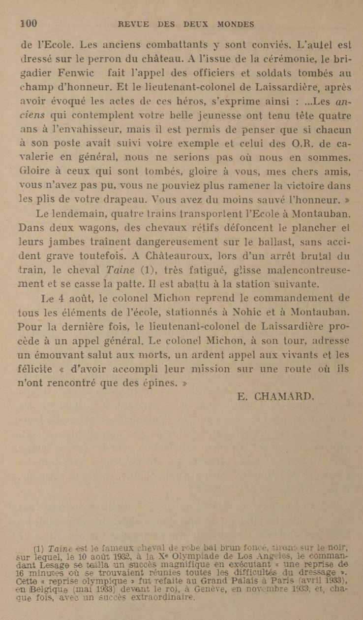 Le Colonel Charles Michon Chef des Cadets de Saumur... 2021. Revue_20