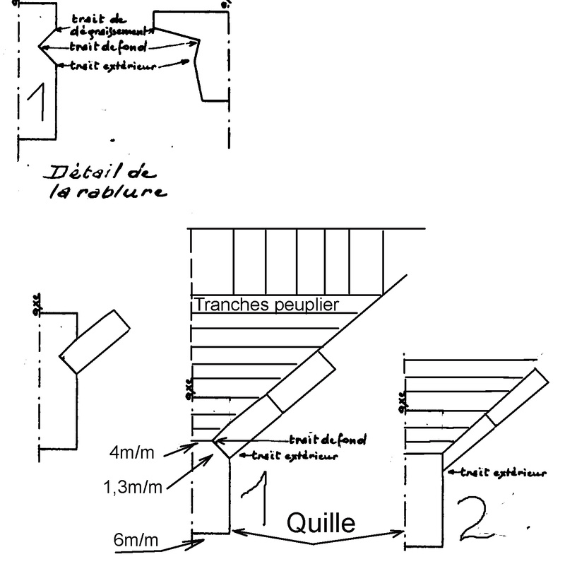 La Bisquine au 1/40 ème de Jean LE BOT - Page 2 Assemb12